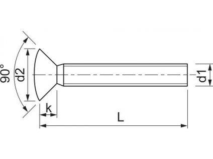 Šroub samostatný okenní M6x65 TOKOZ