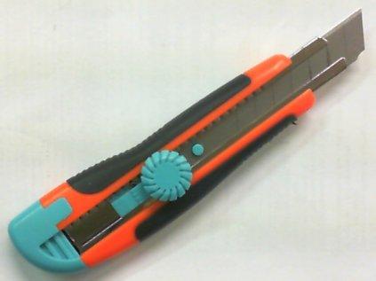 Nůž odlamovací 18mm s kolečkem+2čepele