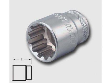 """Hlavice 1/2"""" 11mm,7/16"""",E14 SPLINE HONITON"""