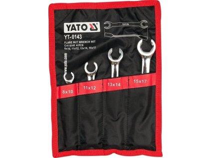 Sada klíčů na převlečné matice 4ks YATO