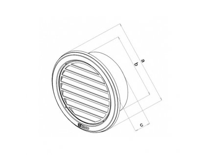 Mřížka větrací kruhová 110mm Haco nerezová