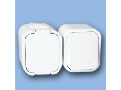 Zásuvka s vypínačem GWN-1B Tympol IP44