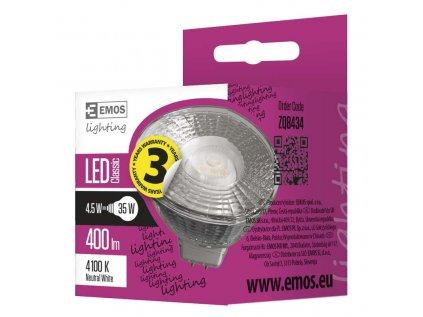 LED žárovka Classic 4,5W GU5,3 neutrální bílá