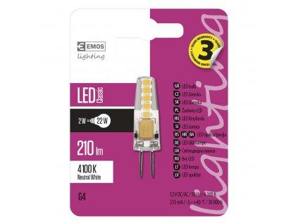 LED žárovka G4 2W neutrální bílá