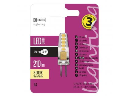 LED žárovka G4 2W teplá bílá