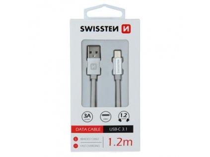 Platinet kabel USB-C 1,2m bílý