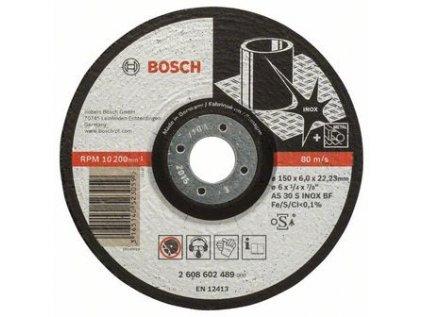 Kotouč brusný 150x6x22,2 Nerez Bosch