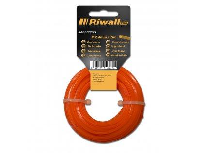 Riwall PRO Žací struna pr. 2,4mm, délka 15m, čtvercový průřez