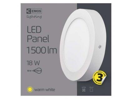 Svítidlo LED stropní IP20 kruh 18W teplá bílá