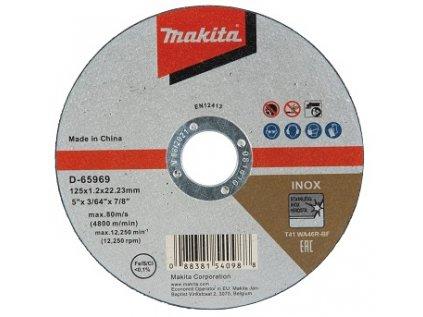 Kotouč řezný na nerez 125x1,2 Makita