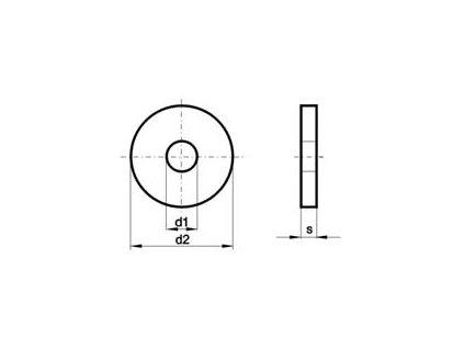Podložka pod dřevo ZN M 24 DIN 440
