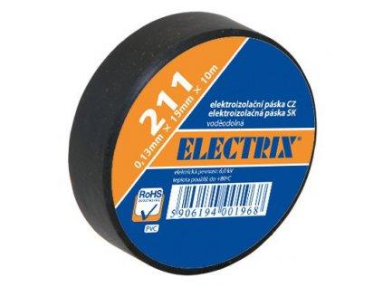 Páska izolační elektrikářská černá 25mm/10m