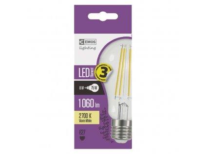 LED žárovka Filament, 8W, E27 teplá bílá