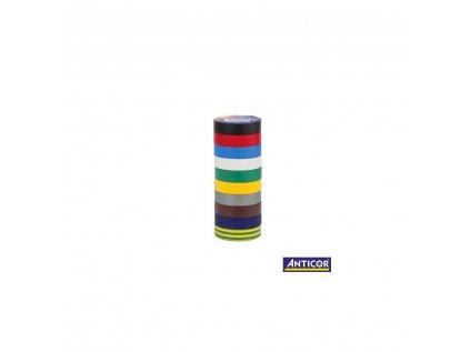 Páska izolační elektrikářská mix barev 10ks