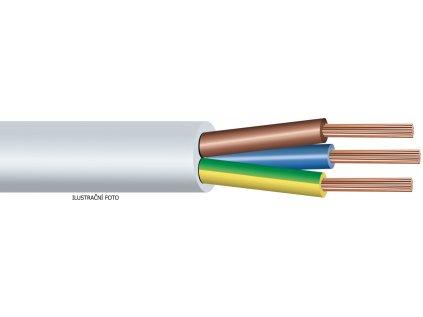 Kabel CYSY H05VV-F 3x1,5 BÍLÁ