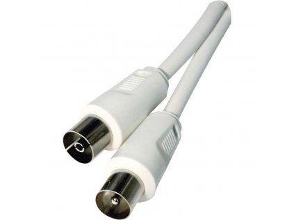 Koax kabel účastnický rovné vidlice 1,25m