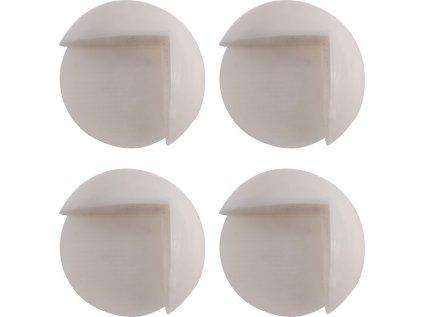 Chránič na rohy nábytku, samolepící, bílý 4ks