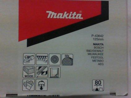 Výsek brusný 125 mm zrn.80 Makita