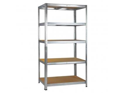 Regál/ pracovní stůl 5 polic 180x90x45