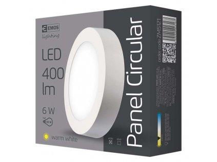Svítidlo LED stropní IP20 kruh 6W teplá bílá