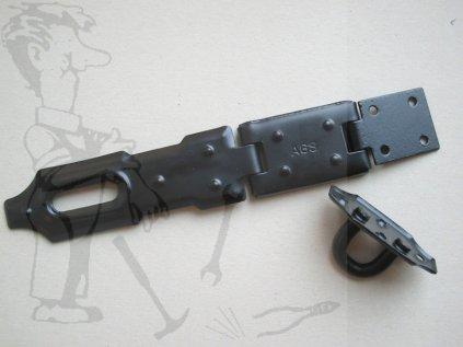 Petlice lakovaná-černá 12cm