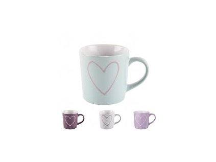 Hrnek 600 ml SRDCE-HEART 4 Barvy keramika