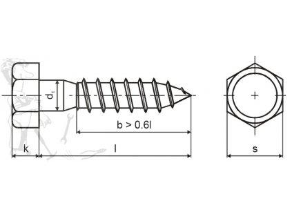 Vrut univerzální 8,0 x 100 DIN 571