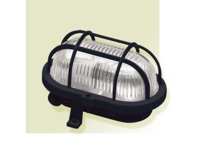 Svítidlo oválné černé 1x60W želva