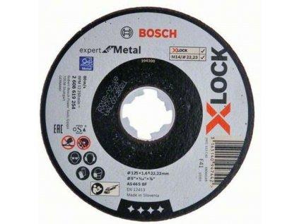 Plochý řezný kotouč Bosch Expert for Inox+Metal systému X-LOCK, 125×1×22,23