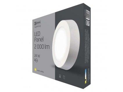 Svítidlo LED stropní IP20 kruh 24w teplá bílá