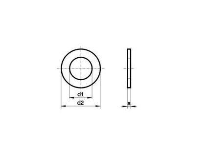 Podložka zinková M 20 DIN 125
