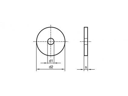 Podložka karosářská M 4 x 30