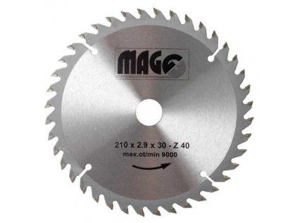Kotouč pilový 210x2,9x30mm/40 zubů MAGG