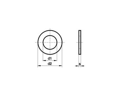 Podložka M 12 DIN 125 A2