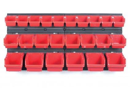 Závěsný panel s 24 boxy na nářadí ORDERLINE 800x165x400 KISTENBERG