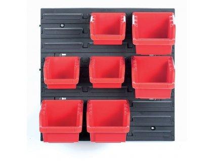 Závěsný panel se 7 boxy na nářadí ORDERLINE 400x110x400 KISTENBERG