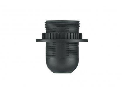 Malpro D3006 objímka plast se závitem E27 černá + kroužek