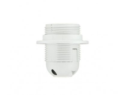 Malpro D3006B objímka plast se závitem E27 bílá + kroužek