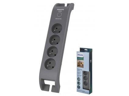 Philips SPN 3140A/60 přepěťová ochrana 4FS 2m čtyřzásuvka