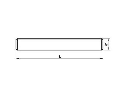 Tyč závitová M 12 ZN 8.8 DIN 975