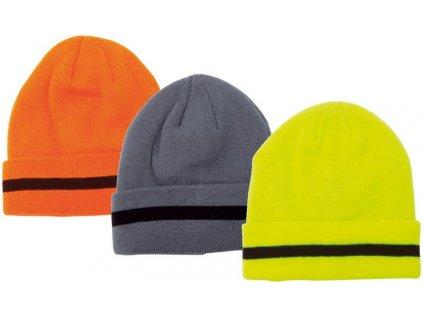 Čepice přízová oranžová