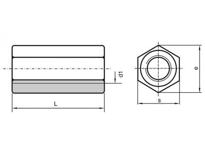 Matice prodlužovací M 12x36