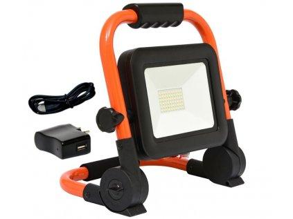Ecolite RMLED-30W/ORA/AKU LED reflektor podstavec 30W/4000k