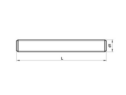 Tyč závitová M 20 ZN DIN 975
