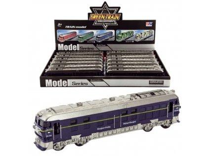 Teddies lokomotiva plast 23cm na baterie se světlem a zvukem na setrvačník