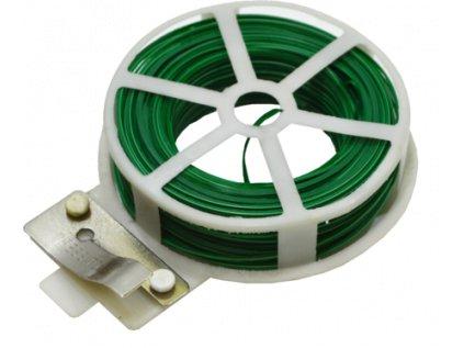 Drát vázací PVC s odřezávačem 0,4x50m