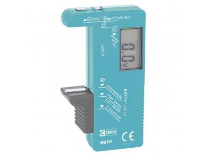 Tester baterií UNI D3, LCD displej