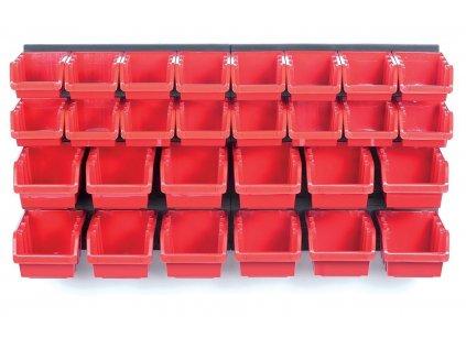 Závěsný panel s 30 boxy na nářadí ORDERLINE 800x165x400 KISTENBERG