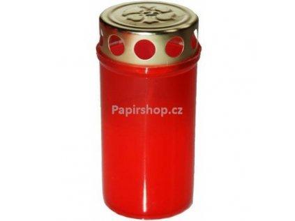 Svíčka 1 ks LA BV 80 g červená + kov