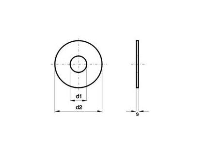 Podložka pod nýt zinková M 6 DIN 9021